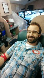 Brad Giving Blood